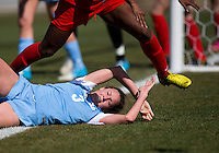 Megan Brigman. The Washington Spirit defeated the North Carolina Tar Heels in a preseason exhibition, 2-0, at the Maryland SoccerPlex in Boyds, MD.