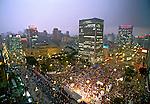 Manifestação pró impeachment de Collor no Vale do Anhangabaú. São Paulo. 1992. Foto de Juca Martins.