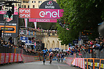 Richard Carapaz (ECU) Movistar Team wins Stage 4 of the 2019 Giro d'Italia, running 235km from Orbetello to Frascati, Italy. 14th May 2019<br /> Picture: Gian Mattia D'Alberto/LaPresse | Cyclefile<br /> <br /> All photos usage must carry mandatory copyright credit (© Cyclefile | Gian Mattia D'Alberto/LaPresse)