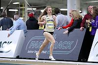 WINSTON-SALEM, NC - FEBRUARY 08: Johanna Schulz #7 of Wake Forest University competes in the Women's Camel City Elite Mile at JDL Fast Track on February 08, 2020 in Winston-Salem, North Carolina.