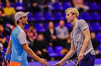 Rotterdam, Netherlands, December 15, 2017, Topsportcentrum, Ned. Loterij NK Tennis, Doubles: Bot Westerhof (NED) (L) and Botic van de Zandschulp (NED)<br /> Photo: Tennisimages/Henk Koster
