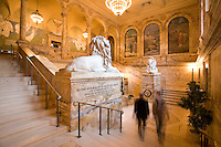 Boston Public Library, McKim Building, War memorial entrance staircase, Copley Square, Boston, MA