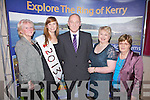 Portmagee Tourism Town 2012, pictured here on Friday night at the official presentation to the town were Eileen Whelan - Portmagee Tidy Towns, Aideen Martin-Miss New Year 2013, John Murphy - Chairman Portmagee Tidy Towns, Mary Grandfield & Mairead Lynch Portmagee Development Group.
