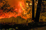 August 19, 1992 Angels Camp, California -- Old Gulch Fire— House burning to the ground in Northwood Estates near Forest Meadows. The Old Gulch Fire raged over some 18,000 acres, destroying 42 homes while threatening the Mother Lode communities of Murphys, Sheep Ranch, Avery and Forest Meadows.