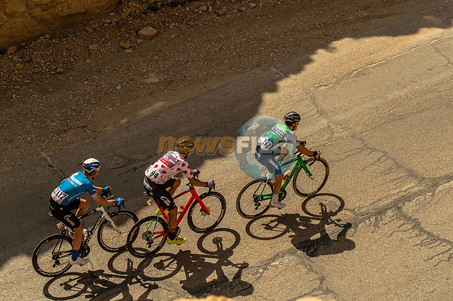 The breakaway in action during Stage 4 of the Saudi Tour 2020 running 137km from Wadi Namar Park to Al Muzahimiyah King Saud University, Saudi Arabia. 7th February 2020. <br /> Picture: ASO/Kåre Dehlie Thorstad | Cyclefile<br /> All photos usage must carry mandatory copyright credit (© Cyclefile | ASO/Kåre Dehlie Thorstad)
