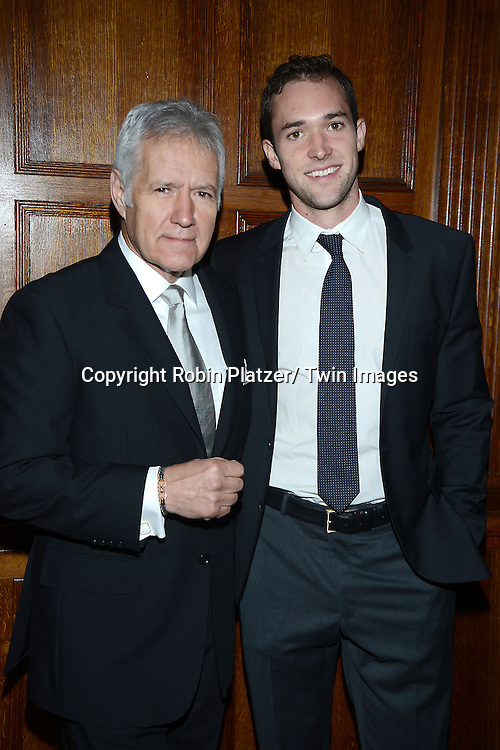 honoree Alex Trebek  and son Matthew Trebek attend the 11th Annual Giants of Broadcasting Luncheon<br /> presented by the Library of American Broadcasting on <br /> October 16, 2013 at Gotham Hall in New York City
