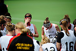 FRANKFURT AM MAIN, GERMANY - April 14: German players during time out during the Deutschland Lacrosse International Tournament match between Germany vs Great Britain during the on April 14, 2013 in Frankfurt am Main, Germany. Great Britain won, 10-9. (Photo by Dirk Markgraf)