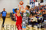 Garveys Rap Buivydas and Len Bito of UCC face off in the U20 Basketball league in the Tralee Sports Complex on Sunday