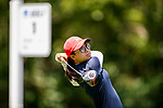 STILLWATER, OK - MAY 23: Yu-Sang Hou tees off from the first green during the Division I Women's Golf Team Match Play Championship held at the Karsten Creek Golf Club on May 23, 2018 in Stillwater, Oklahoma. (Photo by Shane Bevel/NCAA Photos via Getty Images)