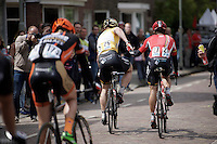 André Greipel (DEU/Lotto-Soudal) wins the overall and is congratulated behind the finish line by teammate Greg Henderson (NZL/Lotto-Soudal)<br /> <br /> stage 5: Eindhoven - Boxtel (183km)<br /> 29th Ster ZLM Tour 2015