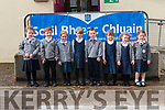 Pupils from Scoil Bhreac Chluain, Annascaul, Sophie Hennessy, Diarmuid Kennedy, Cara Treacy, Edie Devane, Joe Flahive, Amelia Murray, Eimear Flahive and Ella McCafferty who started school this year.