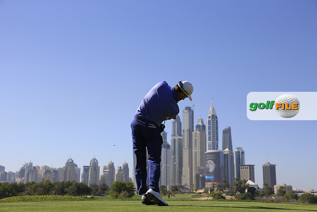 Graeme McDOWELL (NIR) tees off the 8th tee during Saturday's Round 3 of the 2015 Omega Dubai Desert Classic held at the Emirates Golf Club, Dubai, UAE.: Picture Eoin Clarke, www.golffile.ie: 1/31/2015