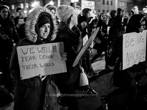 Protest march down Pennsylvania Avenue, Washington DC
