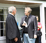 "Actor Christopher Lloyd & Ric Klass (director, writer, producer) - Shooting on May 1, 2011 - ""Excuse Me For Living"" - A Romantic Comedy - an Independent Film written, directed and produced by Ric Klass. (Photos by Sue Coflin/Max Photos)"
