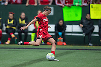 Seattle, Washington - Saturday May 14, 2016: Portland Thorns FC defender Emily Menges (4) during the first half of a match at Memorial Stadium on Saturday May 14, 2016 in Seattle, Washington. The match ended in a 1-1 draw.