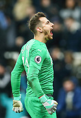 29th January 2019, St James Park, Newcastle upon Tyne, England; EPL Premier League football, Newcastle United versus Manchester City; Martin Dubravka of Newcastle United celebrates at the end of Newcastle Uniteds 2-1 win