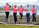 REPRO FREE: 28-4-2013: RTE's Miriam O'Callaghan and Kerry footballer Marc O'Se join Deirdre Geaney, Aisling O'Connor and Mairead Breathnach in Dingle at the weekend for the launch of the Dingle Womens' Mini Marathon on May 18th in aid of the National Breast Cancer Research Institute and lcoal school Pobalscoil Chorca Dhuibhne at the weekend.<br /> Photo: Don MacMonagle<br /> <br /> The mini marathon is intended to cater for women of all levels of fitness with walkers, joggers and runners being encouraged to take part. It is anticipated that the 10km run will become a permanent fixture for recreational runners and walkers as the peninsula's landscape forms one of the most impressive backdrops imaginable for any such event. <br />