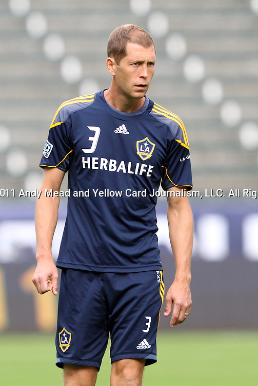19 November 2011: Gregg Berhalter. The Los Angeles Galaxy held a practice session at the Home Depot Center in Carson, CA one day before playing in MLS Cup 2011.