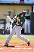 Siena Saints infielder Brian Fay (28) during a game against the Central Florida Knights at Jay Bergman Field on February 16, 2014 in Orlando, Florida.  UCF defeated Siena 9-6.  (Copyright Mike Janes Photography)