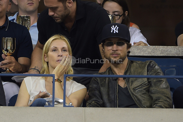 FLUSHING NY- AUGUST 30:  Kelly Rutherford is seen watching Eugenie Bouchard Vs Barbora Zahiavova Strycova on Arthur Ashe stadium at the USTA Billie Jean King National Tennis Center on August 30, 2014 in Flushing Queens. Credit: mpi04/MediaPunch