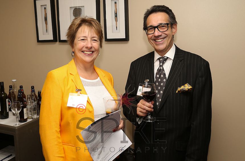 Big smiles from Caroline Elliott of Nelsons Solicitors and Nick Max of CHC-Land