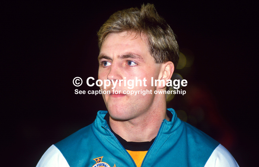 Allen McKnight, footballer, N Ireland & Glasgow Celtic, 19880305AMK..Copyright Image from Victor Patterson, 54 Dorchester Park, Belfast, UK, BT9 6RJ..Tel: +44 28 9066 1296.Mob: +44 7802 353836.Voicemail +44 20 8816 7153.Skype: victorpattersonbelfast.Email: victorpatterson@me.com.Email: victorpatterson@ireland.com (back-up)..IMPORTANT: If you wish to use this image or any other of my images please go to www.victorpatterson.com and click on the Terms & Conditions. Then contact me by email or phone with the reference number(s) of the image(s) concerned.