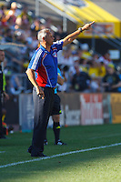 28 AUGUST 2010:  FC Dallas head coach Schellas Hyndman during MLS soccer game between FC Dallas vs Columbus Crew at Crew Stadium in Columbus, Ohio on August 28, 2010.