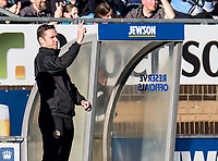 Kevin Nolan manager of Notts County during the Sky Bet League 2 match between Wycombe Wanderers and Notts County at Adams Park, High Wycombe, England on the 25th March 2017. Photo by Liam McAvoy.