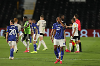 30th July 2020; Craven Cottage, London, England; English Championship Football Playoff Semi Final Second Leg, Fulham versus Cardiff City; A dejected Robert Glatzel of Cardiff City after Cardiff City are knocked out of the playoffs