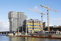 Nederland Nijmegen 2016. Bouwwerkzaamheden aan de Waal.  Foto Berlinda van Dam / Hollandse Hoogte
