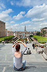 BRUSSELS - BELGIUM - 22 June 2016 -- Brussels city - view towards Grand Place from the Jardin du Mont des Arts. -- PHOTO: Juha ROININEN / EUP-IMAGES Käyttöoikeus: vain ET brändi