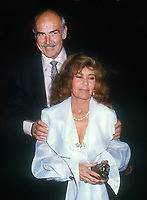 Sean Connery, wife Micheline Roquebrune, 1992, Photo By Michael Ferguson/PHOTOlink