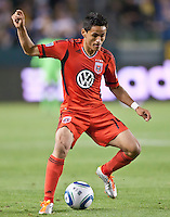 CARSON, CA – June 3, 2011: DC United midfielder Andy Najar (14)  during the match between LA Galaxy and DC United at the Home Depot Center in Carson, California. Final score LA Galaxy 0, DC United 0.