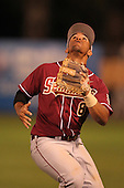 "Florida State Seminoles Devon Travis #8 during a game vs. the Florida Gators in the ""Florida Four"" at George M. Steinbrenner Field in Tampa, Florida;  March 1, 2011.  Florida State defeated Florida 5-3.  Photo By Mike Janes/Four Seam Images"