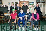 The Bob Casey Memorial Scratch Cup which was held at the Pitch and Putt Club, Killeen Road, Tralee on Sunday. Front l-r Richard Bunyan, Third Overall, Jason Creegan, Intermediate, Alan Hobbert, First Overall and  Lisa O'Connor, Ladies Winner. Back l-r  Stjohn Kelleher, Final18, Jason O'Regan, Second Overall, Roger Guthrie, Junior Winner , Teresa Broderick, Committee and Tim Scannell, Chairman.
