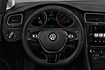 Car pictures of steering wheel view of a 2017 Volkswagen E-Golf SE 5 Door Hatchback