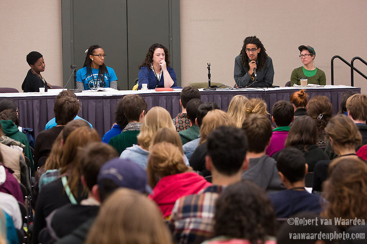 A Cage or a Classroom: The School to Prison Pipeline Effecting EJ Communities session at Powershift. Over six thousand young people from all over the country are converging in Pittsburgh, PA for Power Shift 2013, a massive training dedicated to bringing about a safe planet and a just future for all people. (Photo by: Robert van Waarden)