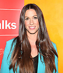 Alanis Morissette backstage before she.talks with Jon Pareles at TimesTalks at The Times Center in New York City on June 19, 2012