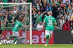 01.09.2019, wohninvest Weserstadion, Bremen, GER, 1.FBL, Werder Bremen vs FC Augsburg, <br /> <br /> DFL REGULATIONS PROHIBIT ANY USE OF PHOTOGRAPHS AS IMAGE SEQUENCES AND/OR QUASI-VIDEO.<br /> <br />  im Bild<br /> <br /> 2:1 Joshua Sargent (Werder Bremen #19) gegen Tomáš Koubek / Tomas (FC Augsburg #21) Stephan Lichtsteiner (FC Augsburg #03) jubel <br /> <br /> Foto © nordphoto / Kokenge