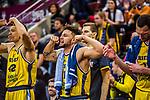 Malik MUELLER (#11 MHP Riesen Ludwigsburg) \Jacob WILEY (#42 MHP Riesen Ludwigsburg) \Adam WALESKOWSKI (#19 MHP Riesen Ludwigsburg) \ beim Spiel MHP RIESEN Ludwigsburg - EWE Baskets Oldenburg.<br /> <br /> Foto &copy; PIX-Sportfotos *** Foto ist honorarpflichtig! *** Auf Anfrage in hoeherer Qualitaet/Aufloesung. Belegexemplar erbeten. Veroeffentlichung ausschliesslich fuer journalistisch-publizistische Zwecke. For editorial use only.