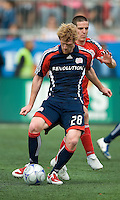23 May 09: New England Revolution defender Pat Phelan #28 and Toronto FC midfielder Sam Cronin #2 in action during a game between the New England Revolution and Toronto FC.Toronto FC won 3-1.