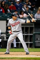 August 7, 2009:  Shortstop Asdrubal Cabrera (13) of the Cleveland Indians at bat during a game vs. the Chicago White Sox at U.S. Cellular Field in Chicago, IL.  The Indians defeated the White Sox 6-2.  Photo By Mike Janes/Four Seam Images