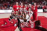 March 3, 2010: Wisconsin Badgers seniors from the spirit squads pose for a photo during a Big Ten Conference NCAA basketball game against the Iowa Hawkeyes on March 3, 2010 in Madison, Wisconsin. The Badgers won 67-40. (Photo by David Stluka)