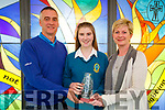 Winner of the Mery Mounthawk Secondary School,Board of Management Award at Mercy Mounthawk School, Awards 2017 at the school gym on Wednesday was Sinead Ryan with Sinead after the Award is her family, Lisa and Ger Ryan