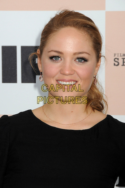 ERIKA CHRISTENSEN .2011 Film Independent Spirit Awards - Arrivals held at Santa Monica Beach, - Santa Monica, California, USA, .26th February 2011..indie portrait headshot smiling beauty hair up  black .CAP/ADM/BP.©Byron Purvis/AdMedia/Capital Pictures.