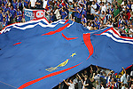 05 July 2006: French fans display a huge France home jersey in the stands of Allianz Arena, pregame. France defeated Portugal 1-0 at the Allianz Arena in Munich, Germany in match 62, the second semifinal game, in the 2006 FIFA World Cup.