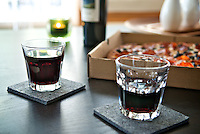 Pizza and Malbec Red Wine for Thursday Happy Hour