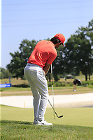 Joel Stalter (FRA) chips onto the 17th green during Saturday's Round 3 of the Porsche European Open 2018 held at Green Eagle Golf Courses, Hamburg Germany. 28th July 2018.<br /> Picture: Eoin Clarke | Golffile<br /> <br /> <br /> All photos usage must carry mandatory copyright credit (&copy; Golffile | Eoin Clarke)