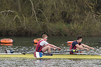 Caversham. Berkshire. UK<br /> Men's pair,Michael GLOVER and Morgan BOLDING, competing at the 2016 GBRowing U23 Trials at the GBRowing Training base near Reading, Berkshire.<br /> <br /> Monday  11/04/2016 <br /> <br /> [Mandatory Credit; Peter SPURRIER/Intersport-images]