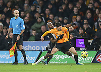 Wolverhampton Wanderers' Pedro Neto shields the ball from Newcastle United's Jetro Willems<br /> Photographer Lee Parker/CameraSport<br /> <br /> The Premier League - Wolverhampton Wanderers v Newcastle United - Saturday 11th January 2020 - Molineux - Wolverhampton<br /> <br /> World Copyright © 2020 CameraSport. All rights reserved. 43 Linden Ave. Countesthorpe. Leicester. England. LE8 5PG - Tel: +44 (0) 116 277 4147 - admin@camerasport.com - www.camerasport.com